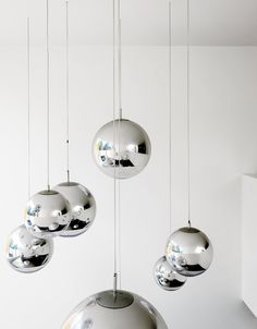 Tom Dixon will never cease to amaze - mirror ball pendants