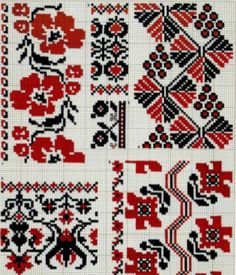 Dsn Cross Stitch Borders, Cross Stitch Charts, Cross Stitch Embroidery, Cross Stitch Patterns, Palestinian Embroidery, Fair Isle Pattern, Sewing Stitches, Craft Patterns, Crochet Projects