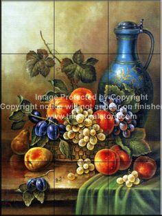 Decorative tile backsplash - Kitchen tile ideas - Antique Still Life III - Tile Mural