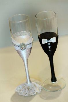 Copas de champán gafas gafas rústica boda novia y novios
