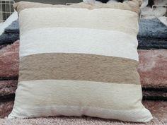 AKI+Bricolaje,+jardinería+y+decoración.+ Cojín+ONEGA+ Cojín+de+sofá+y+cama+cuadrado,+en+color+beige,+con+diseño+de+rayas.