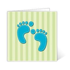 Geburtskarte Blaue Babyfüße