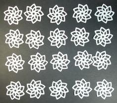 WHITE PINWHEEL FLOWERS.......e-33 scrapbooking cricut die cuts   DISNEY