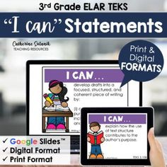 """3rd Grade ELAR TEKS Digital I Can Statements 