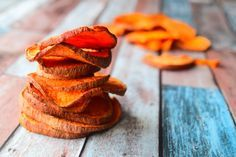 Healthy and nutritious sweet potato crisp recipe from MyNutriCounter