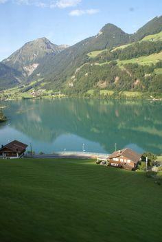 Train up the Swiss Alps  Interlaken, Switzerland