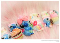 HOTHOTHOT SALE Lilo & stitch say yummy ( disney - Nail art ). $70.00, via Etsy.