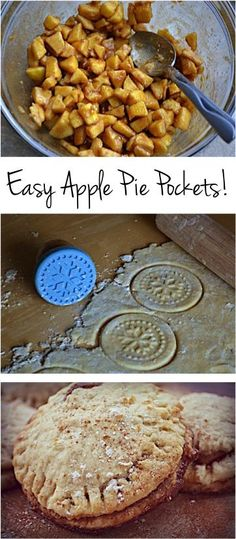 Easy Apple Pie Pockets Recipe!  These are the perfect way to satisfy those cravings for apple pie! #pies #recipes   Recipe at TheFrugalGirls.com