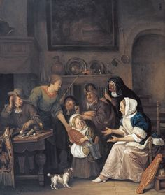 Jan Havicksz. Steen, The feast of Saint Nicholas, 1670 - 1675 | Museum Boijmans Van Beuningen