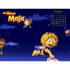 """November: Dein """"Die Biene Maja"""" Hintergrundbild für den November zum kostenlosen Download für dein Tablet, Smartphone oder PC! Viele weitere Wallpaper findest Du auch bei uns!"""