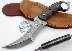 "10.50"" Custom Made Damascus Double Edge Full TANG Karambit Knife (AA-0219-5) #UltimateWarrior"