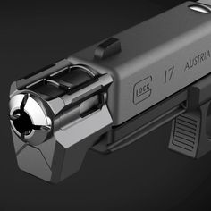 Tyrant Designs CNC T-Comp officially went into production on December as Tyrants first firearm compensator, and is now slated for a Christmas release. Glock Guns, Weapons Guns, Guns And Ammo, Custom Glock, Custom Guns, Assault Weapon, Gun Art, Cool Guns, Awesome Guns