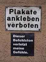 "Barbara: ""Dieser Befehlston verletzt meine Gefühle"", Heidelberg © StreetArt in Germany"
