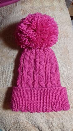 Ravelry: Cabled Toddler Hat pattern by marianna mel Pre School, Ravelry, Knitted Hats, Knitting Patterns, Knit Crochet, Winter Hats, Cute, Caps Hats, Knitting Paterns