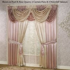 Portia I Waterfall Valance Window Treatment