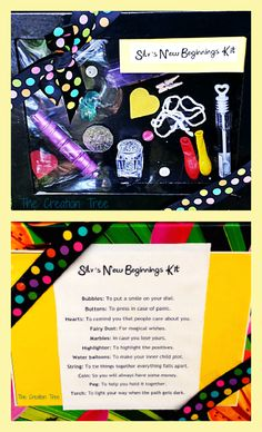 Gift Idea: Going away gift. New Beginnings Kit. Check out the blog for a detailed description of what is in the kit and why. http://thecreationtree.blogspot.com.au/