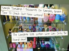 Sample Tuesdays! Discounts On Lotion Samples - We Carry The Complete 2012 Lotion Line!