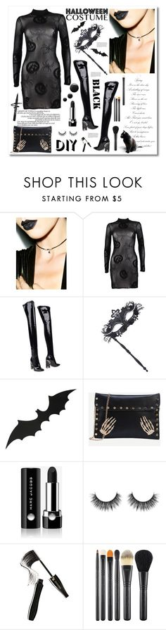 """DIY Halloween Costume"" by cindy88 ❤ liked on Polyvore featuring Boohoo, Christian Dior, Masquerade, Marc Jacobs, Lancôme, MAC Cosmetics, halloweencostume and DIYHalloween"