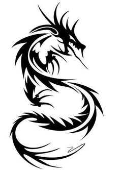 TATTOOS IDEAS: Tribal Dragon Tattoos - Cool Dragon Tattoo For Men