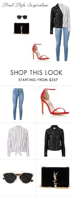 """#LookStreetStyleInspiração"" by liajuphoenix on Polyvore featuring moda, 7 For All Mankind, Stuart Weitzman, Equipment, Witchery, Christian Dior e Yves Saint Laurent"