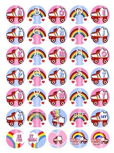 Roller Skates and Rainbows   Monogram/Alphabet 1 by creationsbym, $3.20