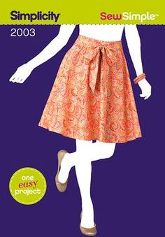 Skirt & sash pattern.