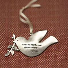Peace Dove Ornament | A made in the USA ornament with a lovely quote.