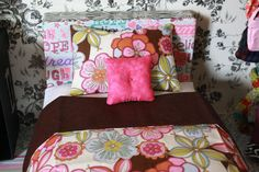 Doll Bedding for American Girl BFC Ink Journey Girl by FroggyStuff, $12.99