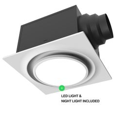 Aero Pure Ceiling Mount 80 CFM Energy Star Bathroom Fan with Light | Wayfair