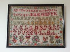 A Lovely Early 20th Century Sampler Dated 1904
