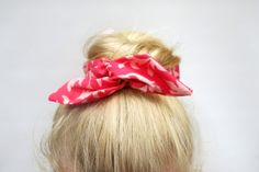 Fabric Bun Wrap Pink on Pink Floral Fabric Wire by TheBobbinsNest, $8.00