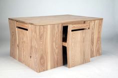 brian lee chubby brothers hidden chairs dining table one big block of awesome