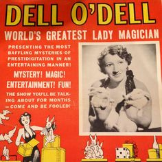 Dell O'Dell was noted for being one of the first magicians to appear on television, on her own show, The Dell O'Dell Show, on ABC's local station in Los Angeles in 1951. She was also one of few American women to have her own circus, the Della O'Dell Society Circus, which toured the Midwest in 1925 and 1926. Before becoming one of the most popular female magicians on the night club circuit during the 1930s, 40s, and 50s, Dell O'Dell also performed in vaudeville and burlesque.