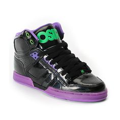 Osiris Girls NYC 83 Slim Black, Purple & Green Shoe