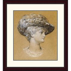 Global Gallery 'Portrait of Dorothy Dene' by Lord Frederick Leighton Framed Painting Print Size: