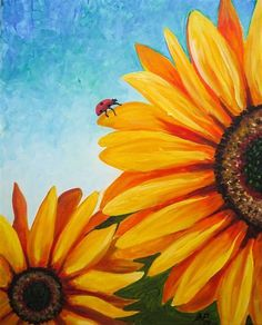 Image result for Sunflower Acrylic Painting Beginner Ideas