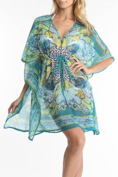 drapey, romantic tunic/cover up