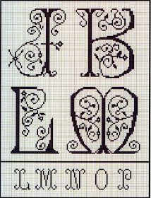 Милые сердцу штучки: Вышивка крестом: Алфавит из французского альбома XIX века (7)