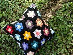 Like the African flower design with black background - free via Ravelry (look for the English version listed)
