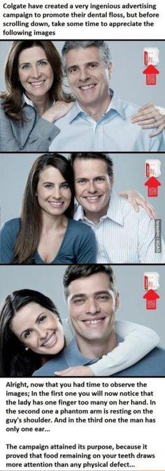 Ingenious marketing campaign for Floss... #FlossMarketing #Dental #somethinginyourteeth