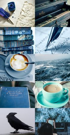 Ravenclaw aesthetic I just realized my Hogwarts aesthetics aren't really very Hogwarsty. I mean like with the wands and robes and stuff. Deco Harry Potter, Harry Potter Houses, Hogwarts Houses, Ravenclaw, Harry Potter Aesthetic, Blue Aesthetic, Fantastic Beasts, Nerd, Fandoms