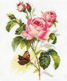 Оригинален гоблен от марката Алиса. Размер 17 х 25 см. Кръстат бод.14 каунта бяла панама аида 100% памук, конци Gamma 100% памук - 26 цвята. Комплектът съдържа всички необходими материали за изработката на гоблена, игла и цветен чертеж. Butterfly Cross Stitch, Cross Stitch Fabric, Butterfly Art, Cross Stitch Embroidery, Embroidery Patterns Free, Embroidery Thread, Kit Rose, Renoir Paintings, Decoupage