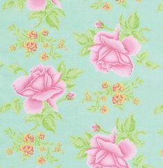 VM38 Wintergreen, Tea Cakes Collection By Verna Mosquera For FreeSpirit Fabric.