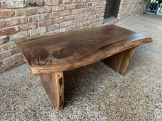 Wslnut coffee table Live Edge Furniture, Furniture Making, Wood Furniture, Outdoor Furniture, Outdoor Decor, Console Table, Dining Table, Rustic Desk, Spalted Maple
