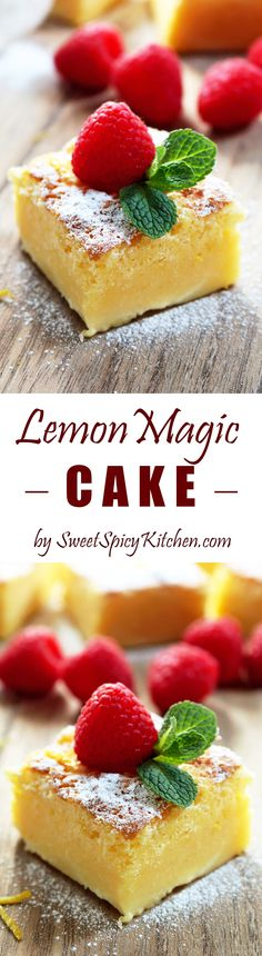 Lemon Magic Cake – this simple, sweet and sour cake really deserves its name – Magic.