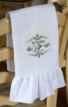 The Tea Room and Bakery Tea Towel. $10.00, via Etsy.