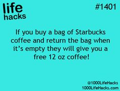 In case you didn't know, we offer a free tall brewed coffee when you purchase a bag of Starbucks® coffee where you buy groceries. When you're done using your bag of Starbucks® coffee at home, bring it into your local Starbucks store and hand it to a barista to redeem your complimentary tall brewed coffee. All the details are right on the back of the bag.