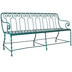 Wrought Iron Garden Bench - France, Circa 1900 | From a unique collection of antique and modern benches at https://www.1stdibs.com/furniture/seating/benches/