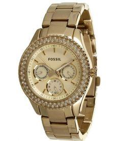 Fossil ES 3101, zlatá, 4640 Kč | Slevy hodinek