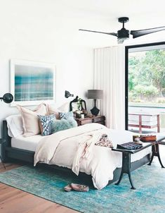 Calm bedroom- mix of masculine and feminine